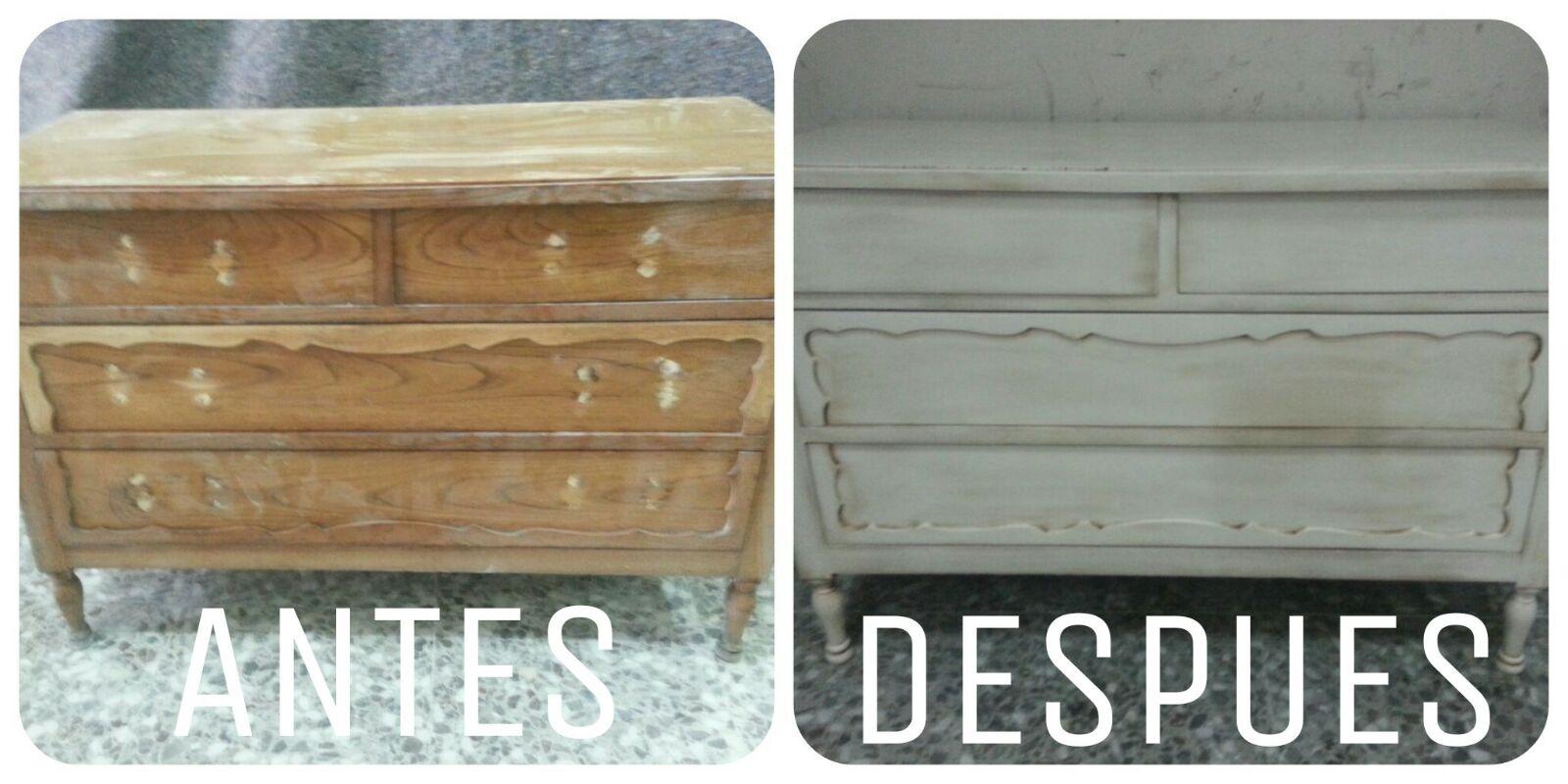 Muebles Antiguos Restaurados Antes Y Despues Cheap Latest Y  # Muebles Reformados Antes Y Despues